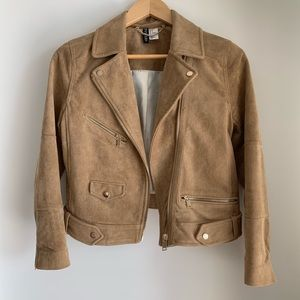 Divided faux suede jacket